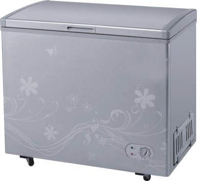 1-Door Gray Colored Chest Freezers